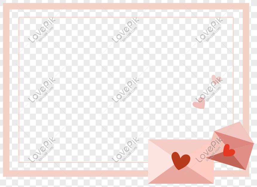 Hari Valentine Cinta Amplop Surat Cinta Elemen Dekorasi
