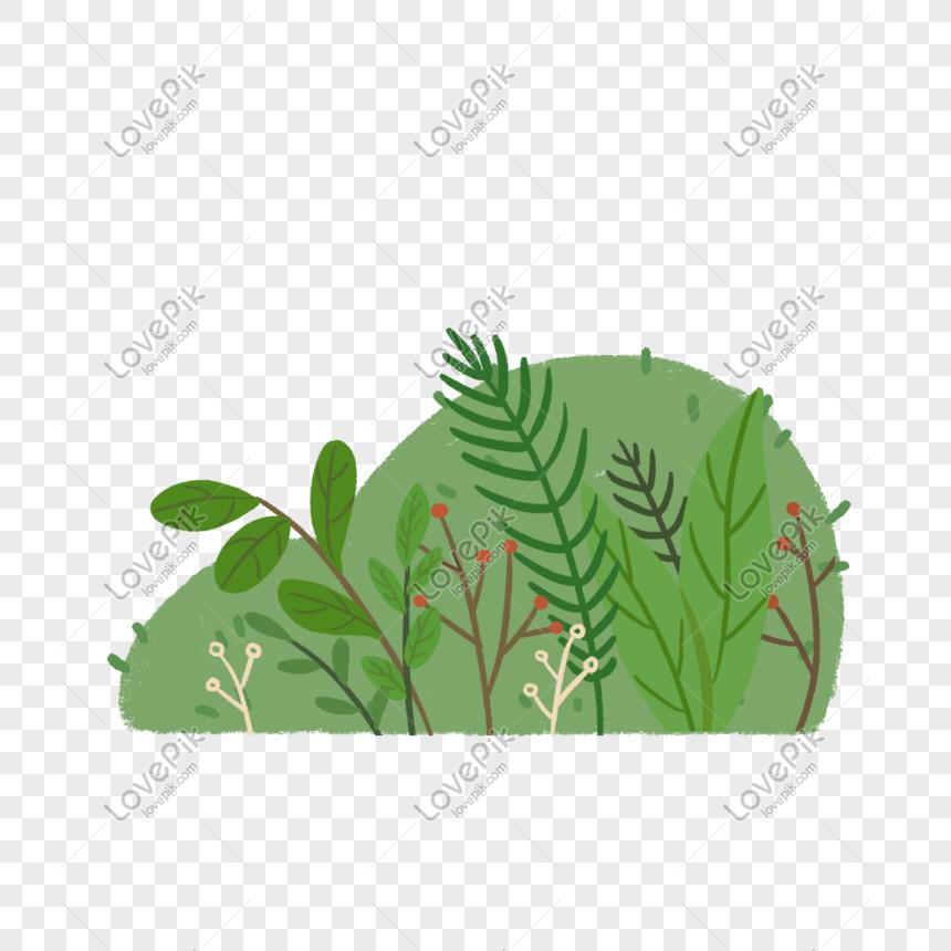 Ilustrasi Lukisan Tangan Rumput Hijau Gambar Unduh Gratis Imej