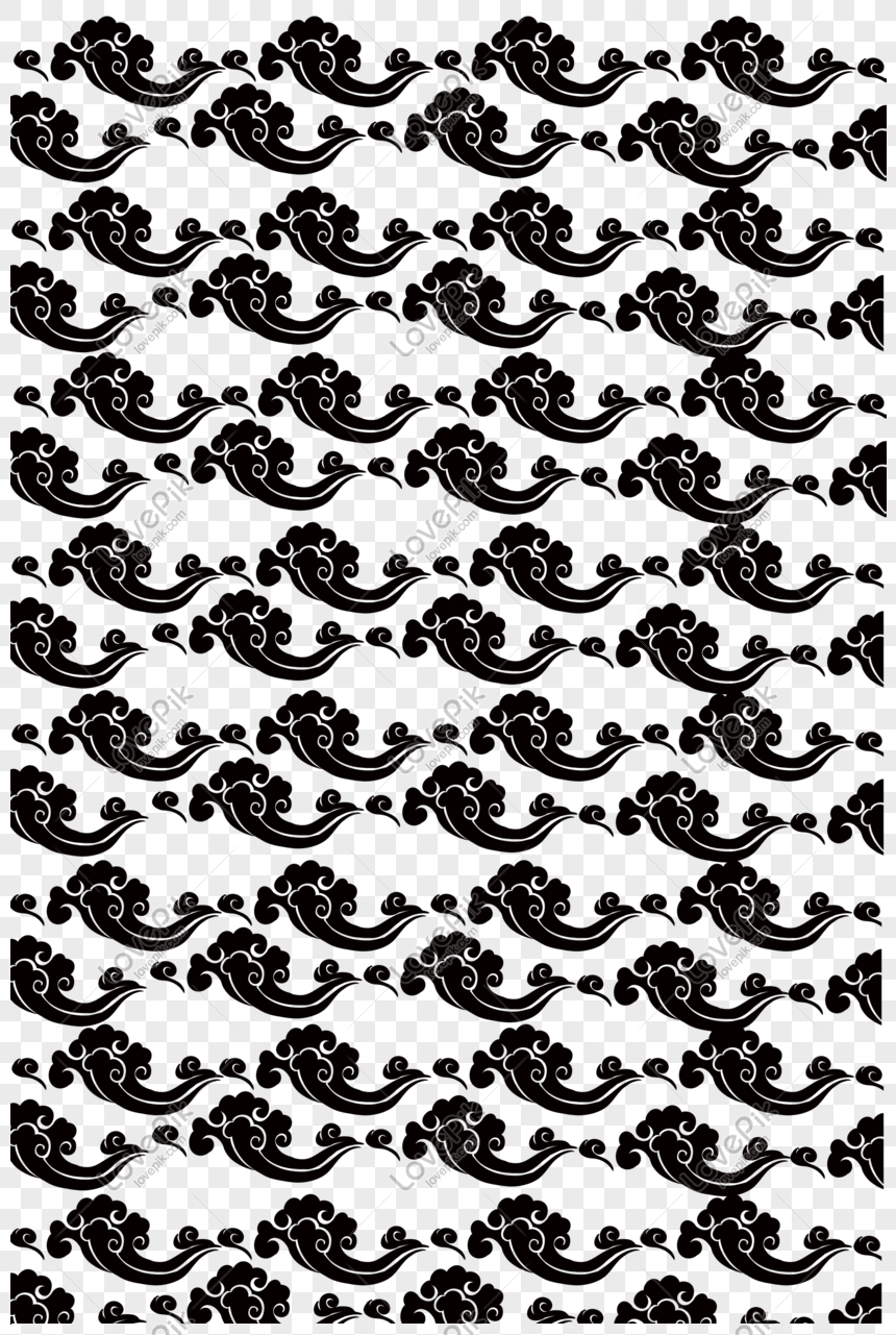 black auspicious cloud shading illustration png