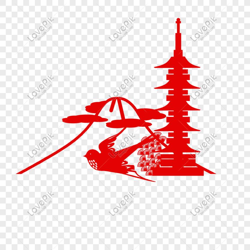 Ilustrasi Bangunan Kuil Horyu Jepang Png Grafik Gambar Unduh Gratis Lovepik