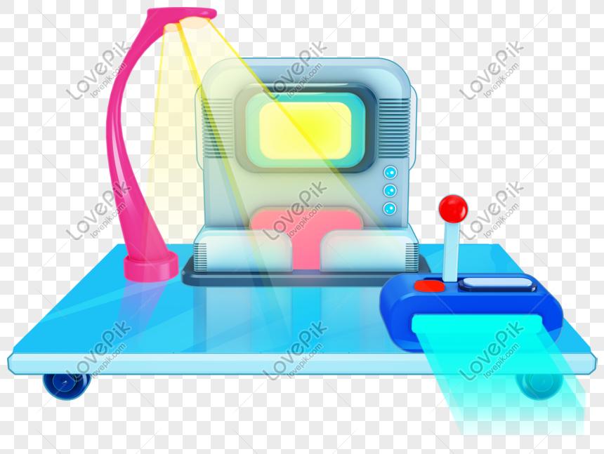 Material De Dibujos Animados Máquina De Tiempo Png Imagen