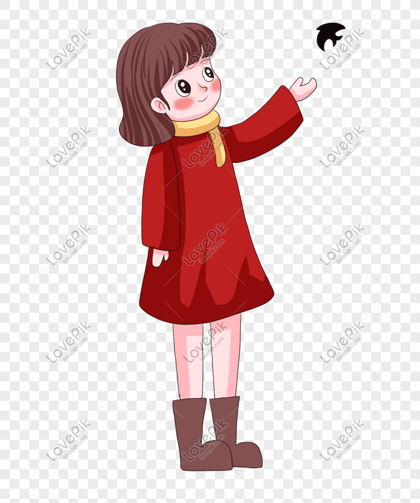 Cute Cartoon Girl Hand Drawn Cartoon Character Png