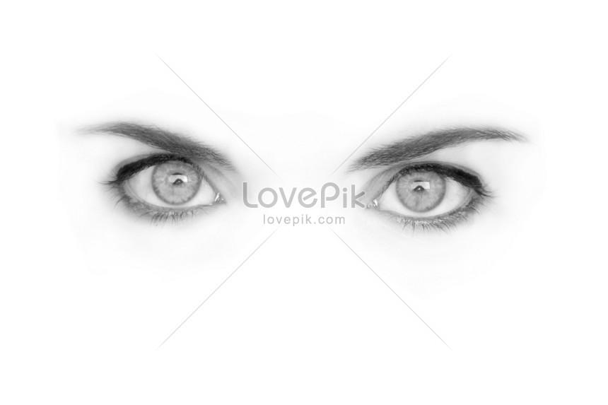 76 Gambar Mata Hitam Putih Paling Bagus