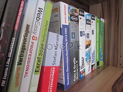 A Neat Bookshelf Image