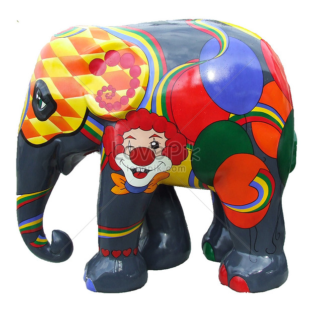 Colourful elephant porcelain photo image_picture free download