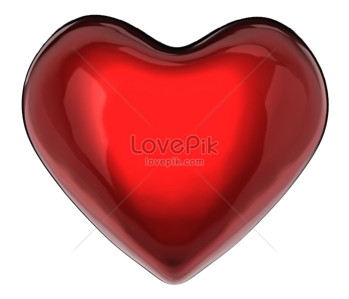 The Heart Of The Red 3d Valentines Day Photo Imagepicture Free