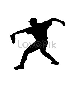 the silhouette of the pitcher photo image picture free download