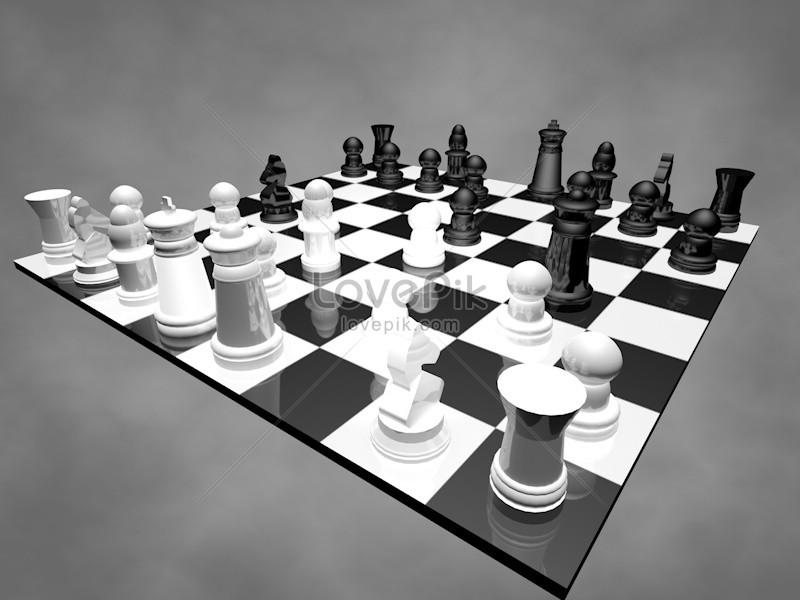 papan catur 3d