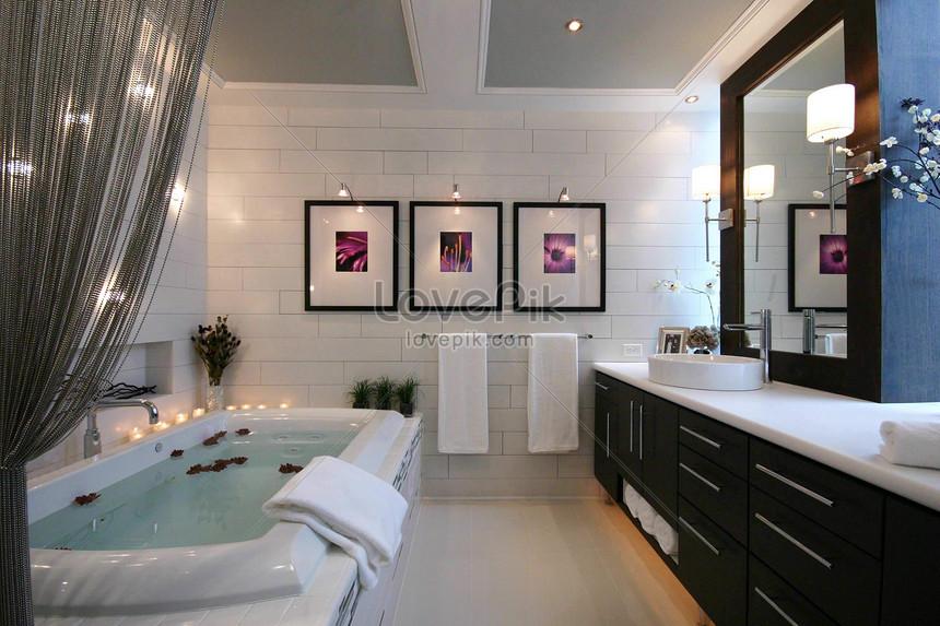 Photo de salle de bain moderne de luxe_Numéro de l ...