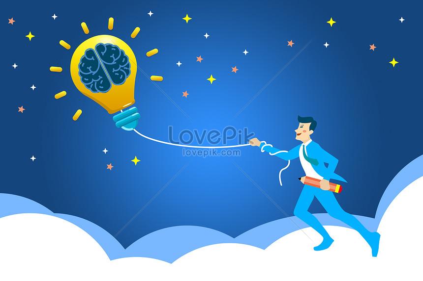 creative light bulbs take you to the vast sky