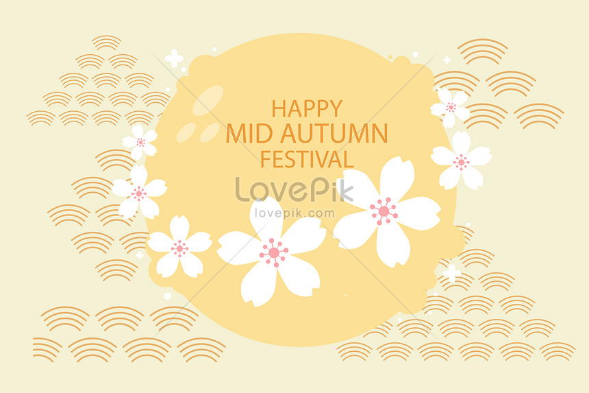 the background of the mid autumn festival