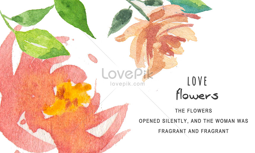 watercolor hand painted flower card card