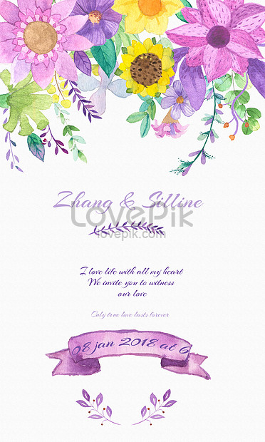 watercolor background of hand painted wedding invitation backgrounds