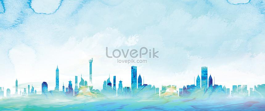 urban watercolor illustrations
