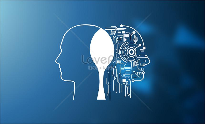 fundo do cérebro de tecnologia