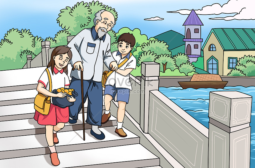 Gambar Kartun Anak Membantu Orang Tua - Kumpulan Gambar