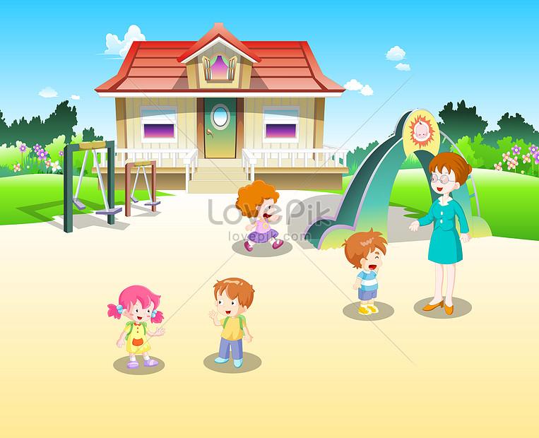 101+ Gambar Animasi Anak Tk Bermain HD