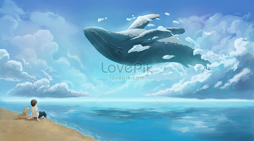 whale in the cloud