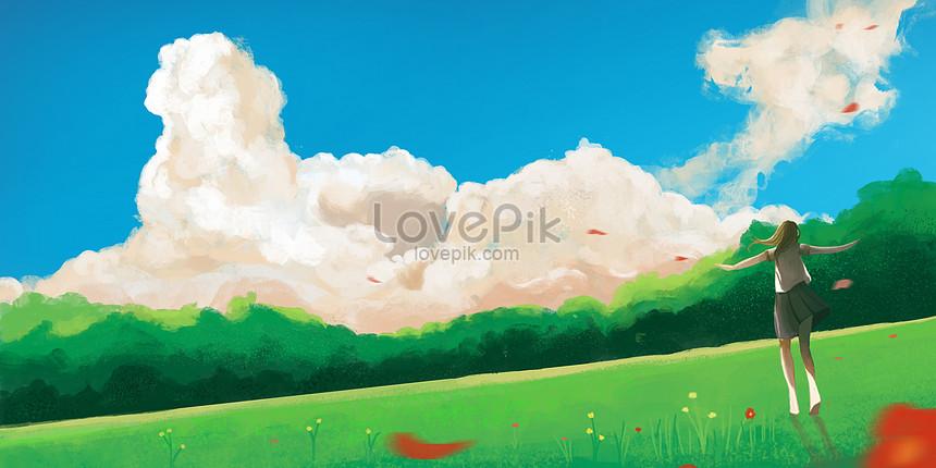 美しいファンタジー風景イラストイメージ 図 Id Prf画像フォーマットpsd Jp Lovepik Com