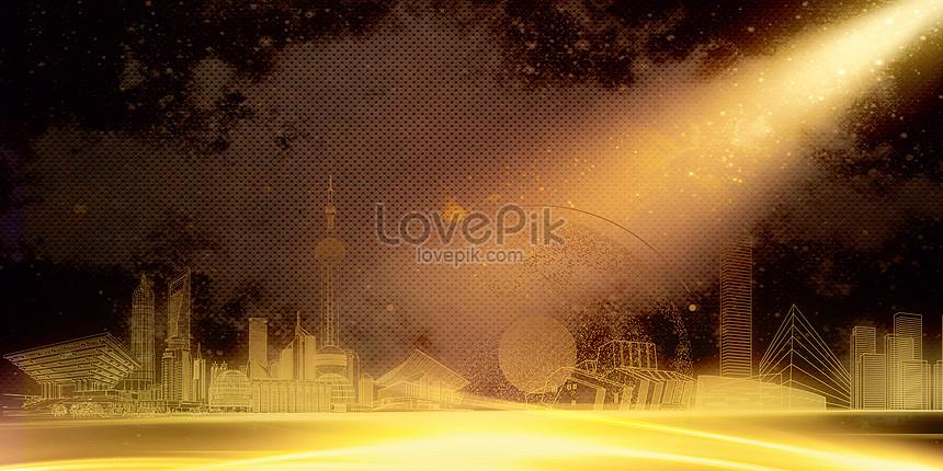 black gold atmospheric background