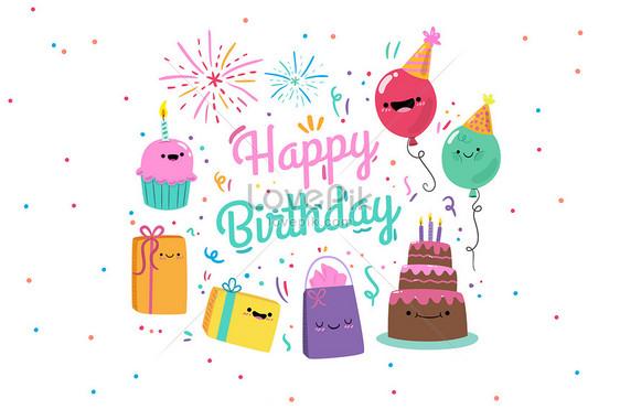 101  Gambar Kartun Lucu Happy Birthday Paling Keren