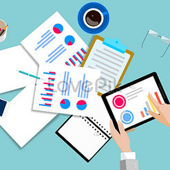 office vector images_office scene vector illustration_workplace vector illustration free download