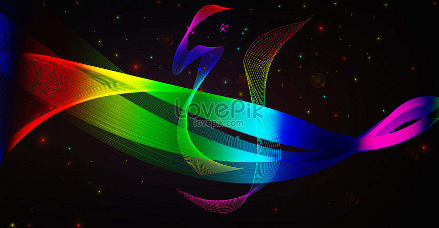 yellow curve colorful background
