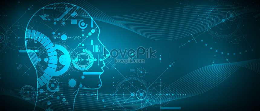 technology background of vectorial artificial intelligence