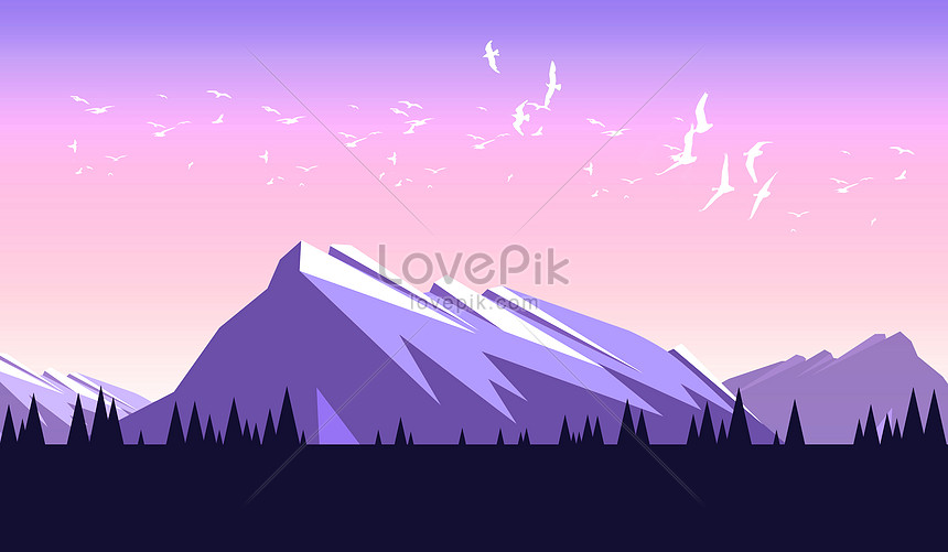 aesthetical tapered illustration