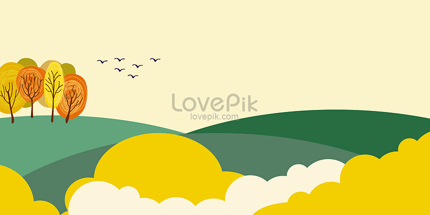 small fresh and flat illustration background