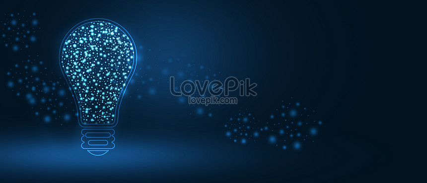 creative electric light bulb technology banner background