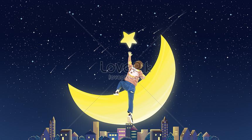 the boy moon stars