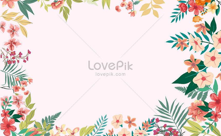 background of flowers and plants