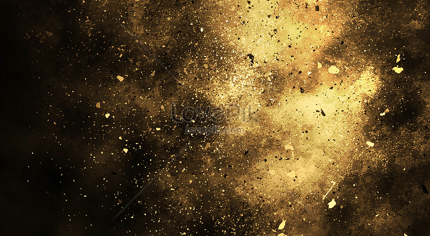 black gold background of science and technology