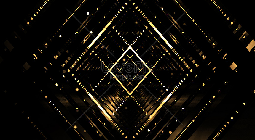 geometric background of science and technology black gold