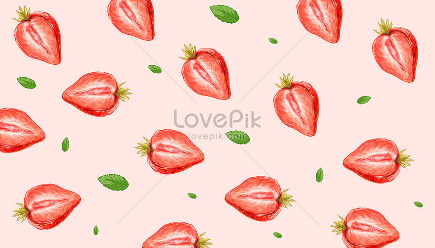 watercolor strawberry background illustration