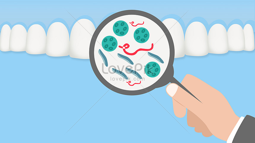 Lovepik صورة Psd 400084660 Id توضيح بحث صور البكتيريا تسوس الأسنان عن طريق الفم