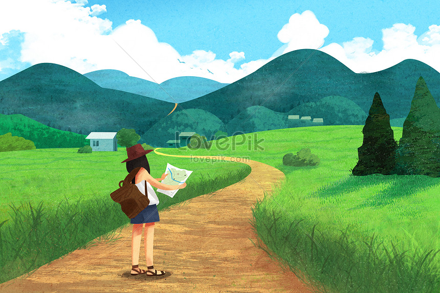 The meaning of travel illustration image_picture free ...
