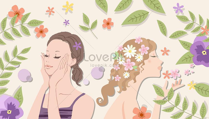 美容肌管理イラストイメージ図 Id 400086356prf画像フォーマットaijp