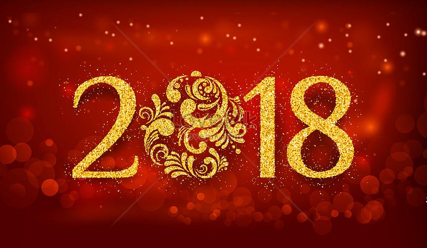 2018 nieuwjaar achtergrond