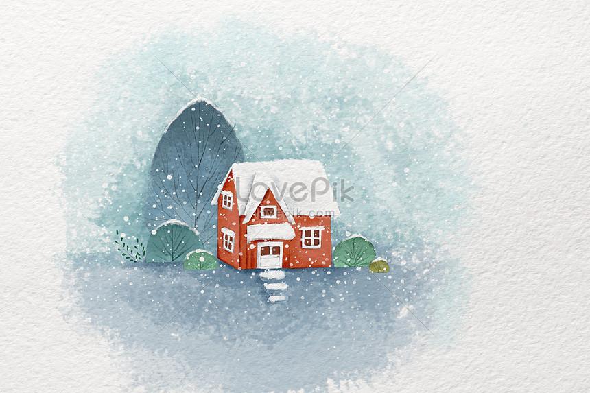 small fresh snow illustration