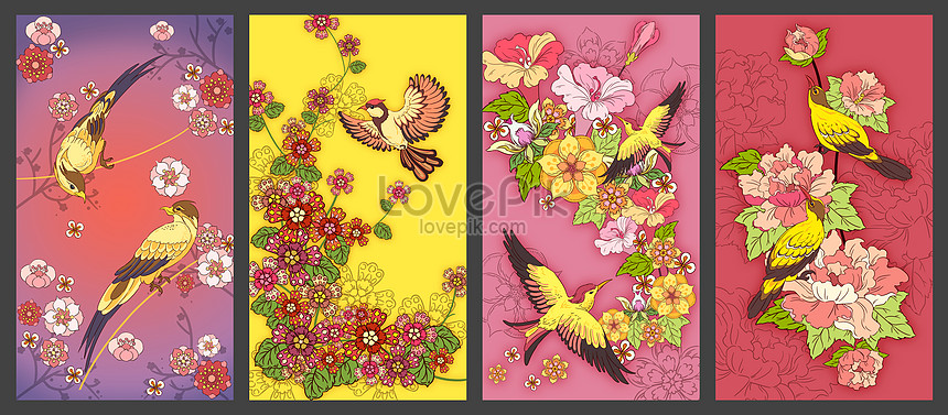 flower and bird painting