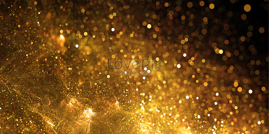 black gold particle background