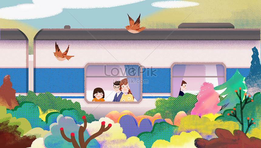family spring tour illustrations
