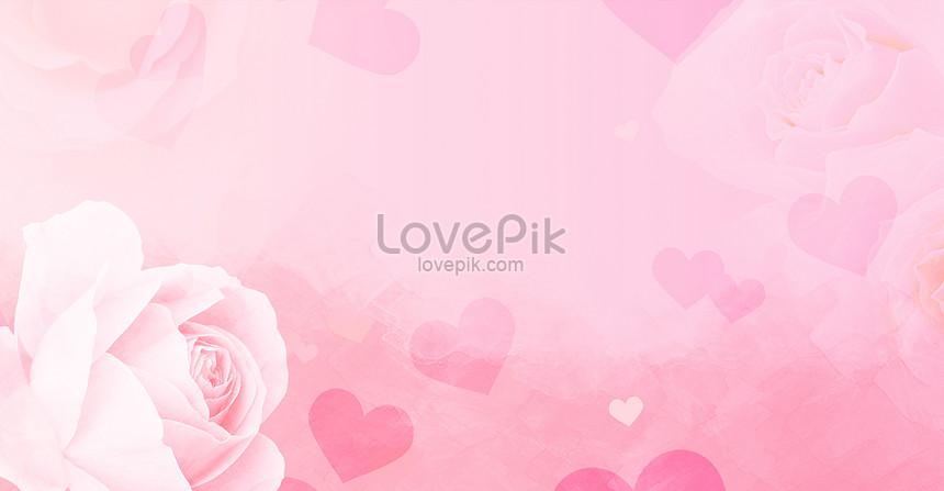 pink rose romantic valentines day