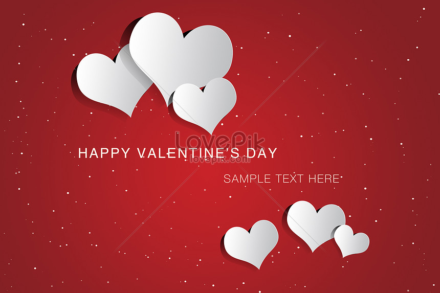 The Red Valentines Card Template And The White Heart Backgrounds
