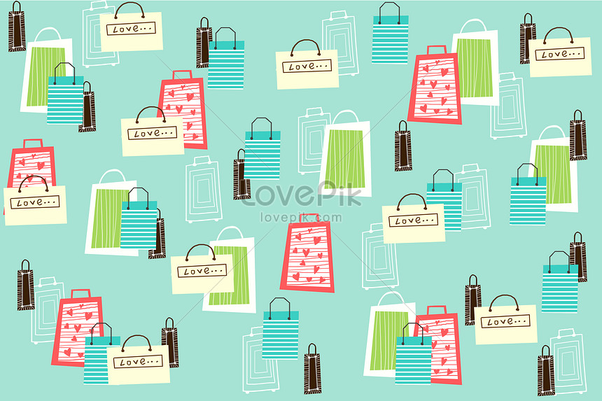 fresh background of shopping bags