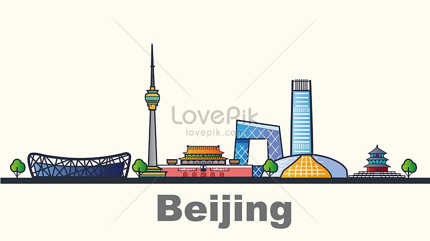 flattened city beijing landmark building