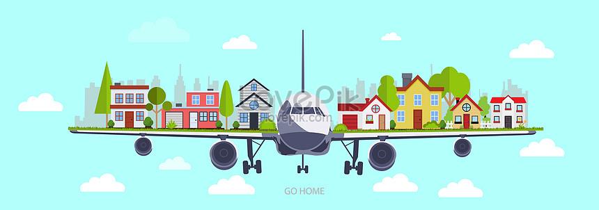 o avião leva você para casa
