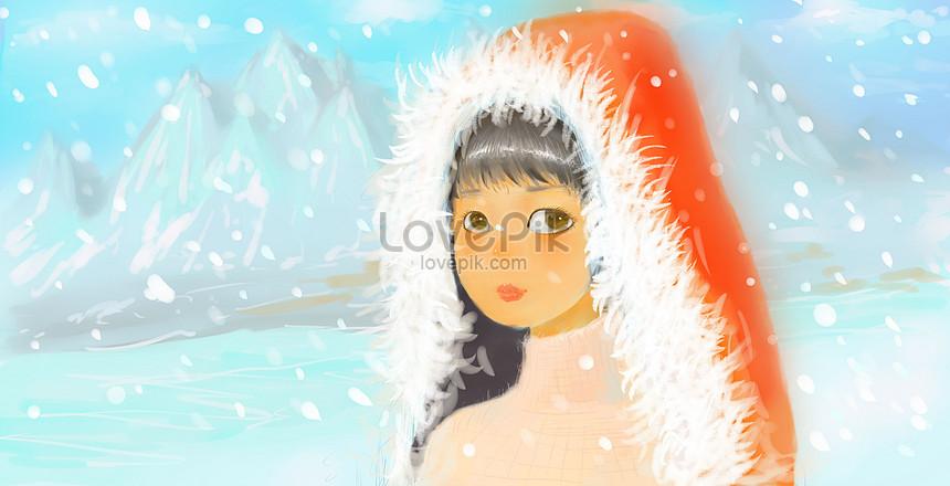 雪を持つ少女